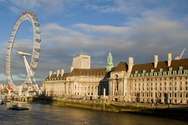 This is our hotel alongside the London Eye.