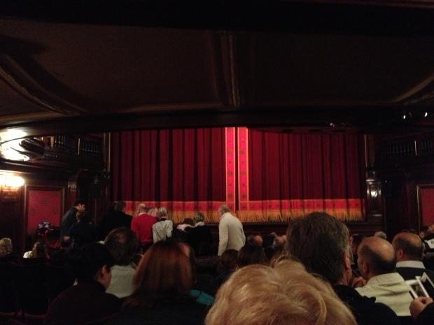 Inside St. Martin's before the performance began.