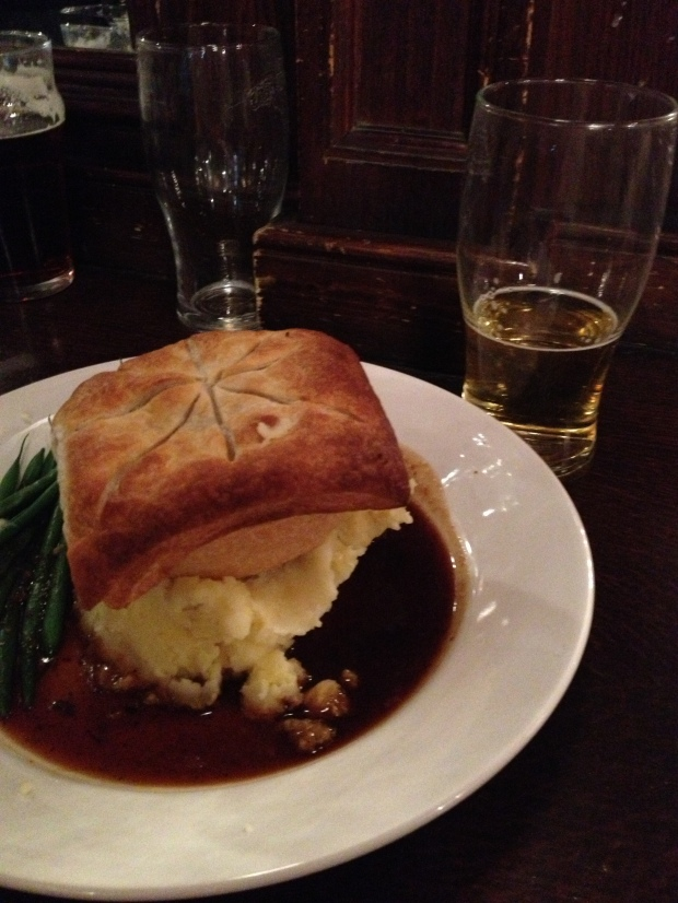 Pie + Mash = me in a food comma!  Yum.