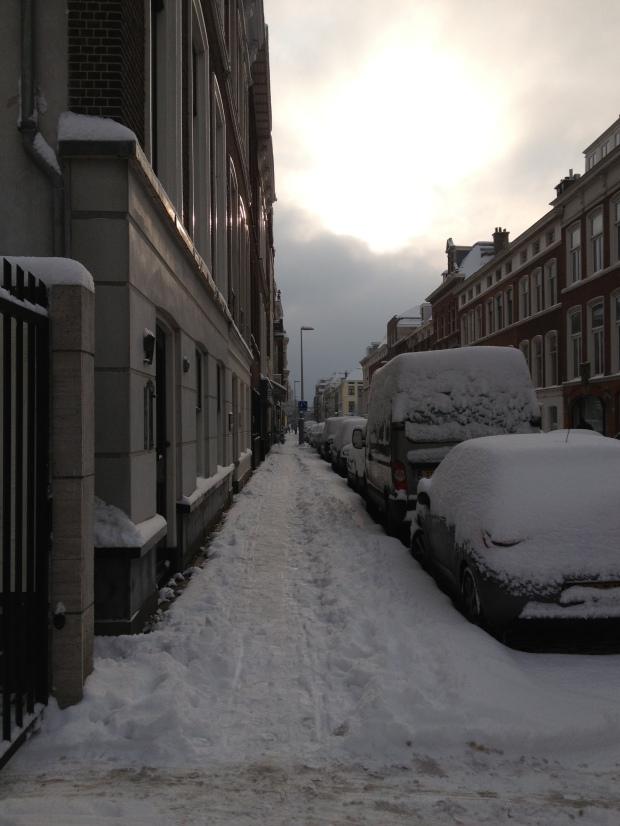 Lovely packed-down sidewalks.