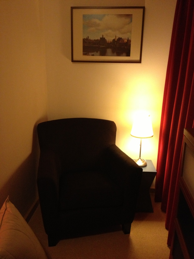 New cozy chair/reading nook in our bedroom.