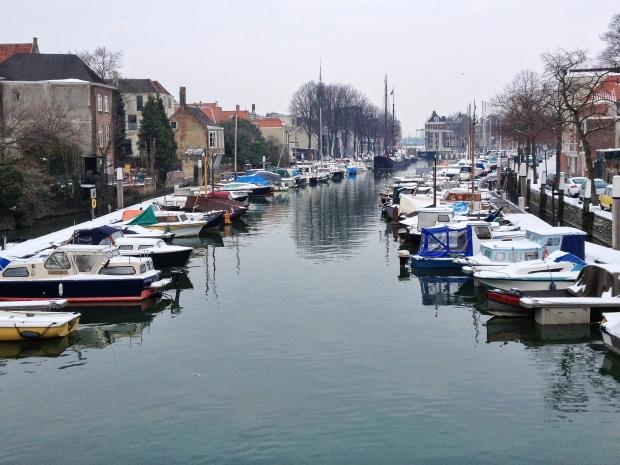 A canal through town.