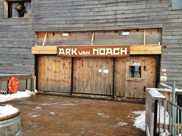 """We thought it was funny that a sign on the door said """"Free Ark Wifi"""" - what would Noah think?!"""