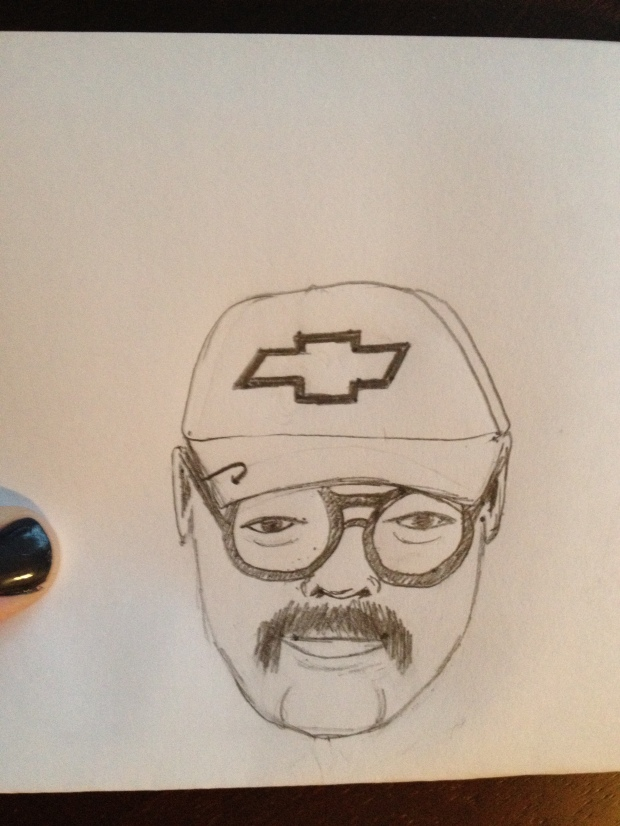 A really funny sketch of my dad that I made one day.