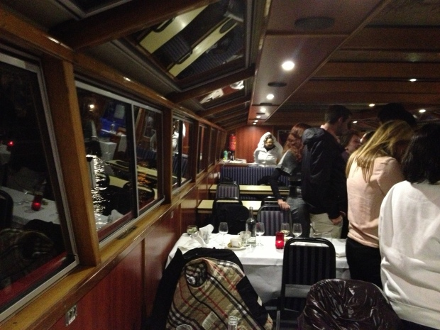 Inside the boat as everyone was leaving.