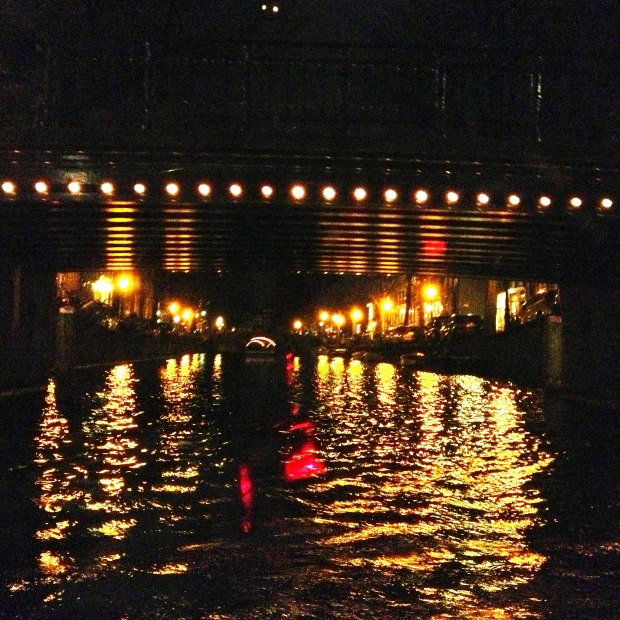 Attempted iPhone shot of the lights on the canals.