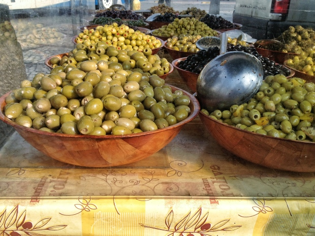 Olives, upon olives, upon olives...  I would be in heaven here (only the green ones though).