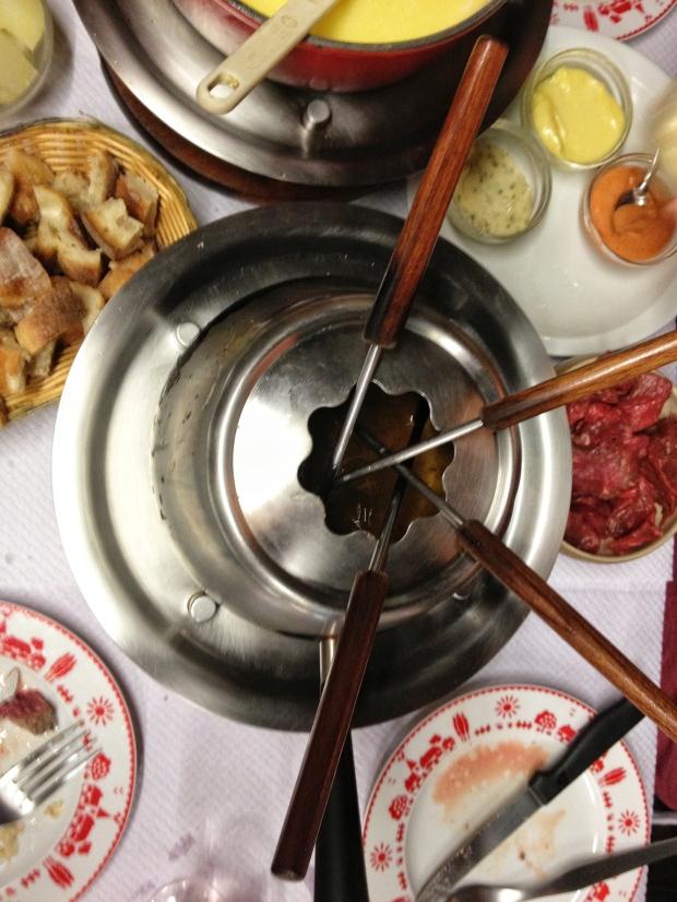 Meat Fondue.