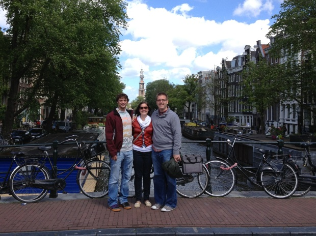 The three of us in Amsterdam.
