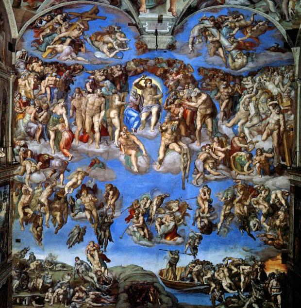 The Last Judgement (on the wall).
