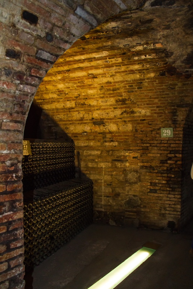 Inside the cellars.