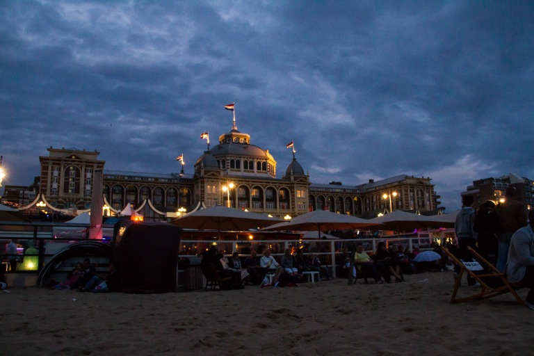 Pre-fireworks shot of the Kurhaus