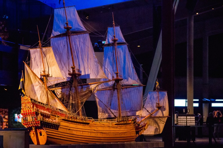 Replica of the ship.