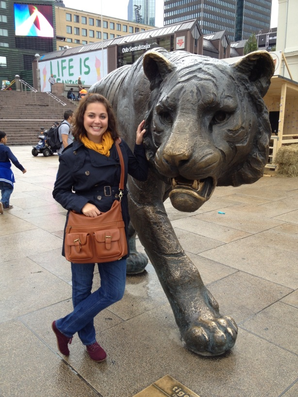 Quick photo stop with the tiger at central station.