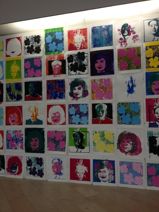 No photos in the exhibit unfortunately, but here's a Warhol project by kids and adults!