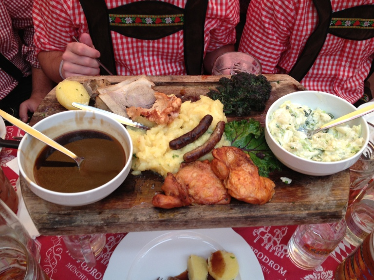 A tasty (and later determined expensive) German feast!