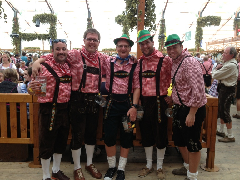 The boys at the Hofbrau tent.
