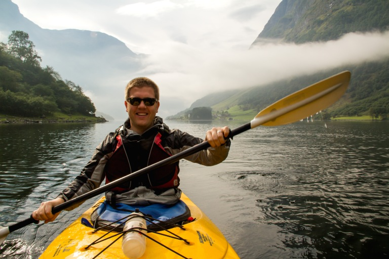 What a handsome kayaker!