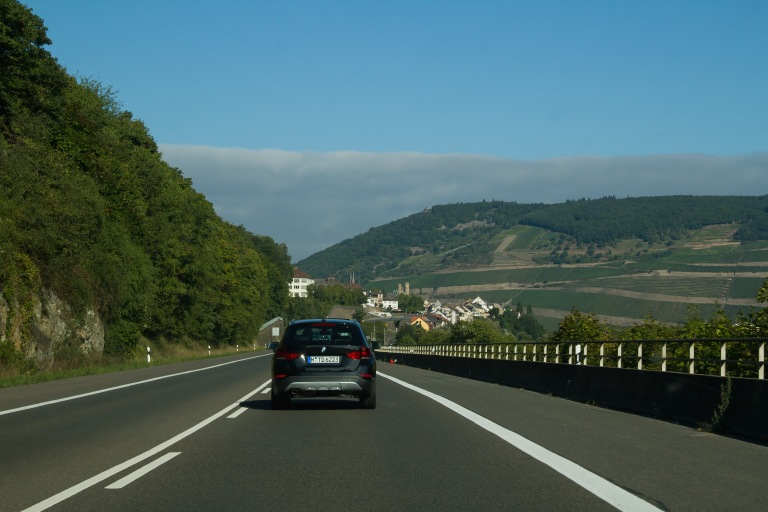 Getting close to Bingen.  The landscape started getting really pretty!