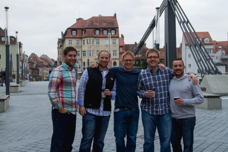 The boys in Bamberg.