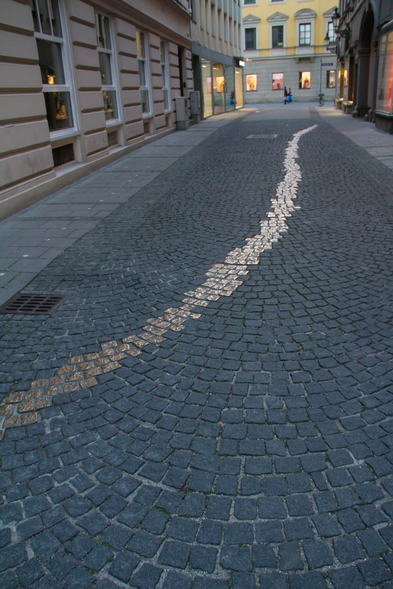 The path in honor of Nazi resistance.