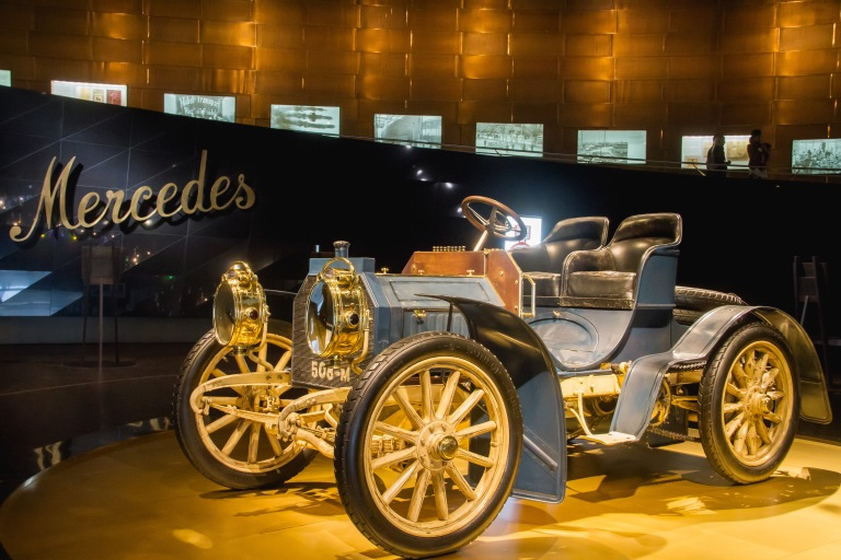 "The first ""Mercedes"" model."