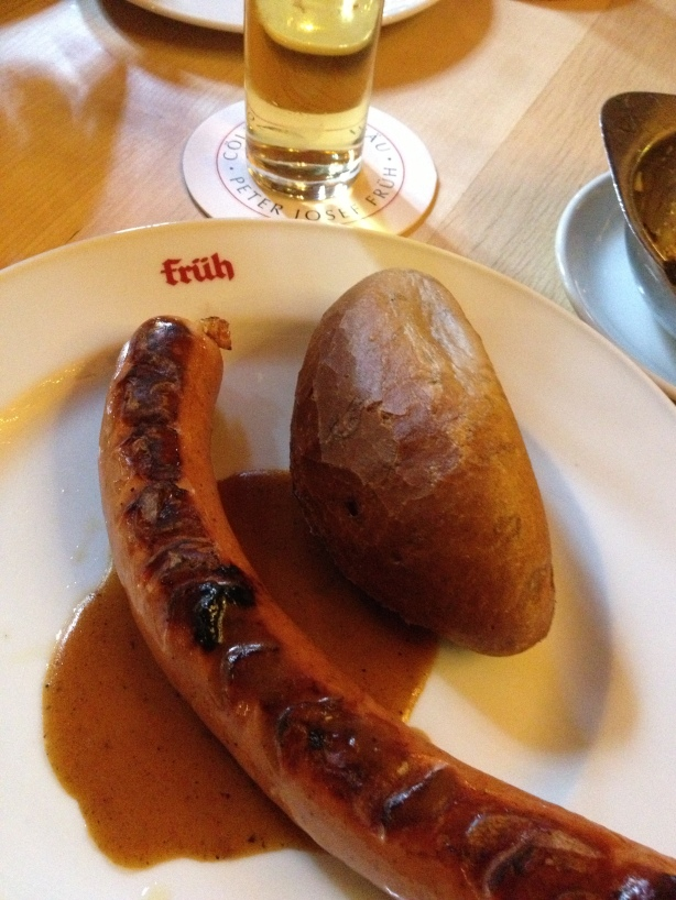 Our first wurst.