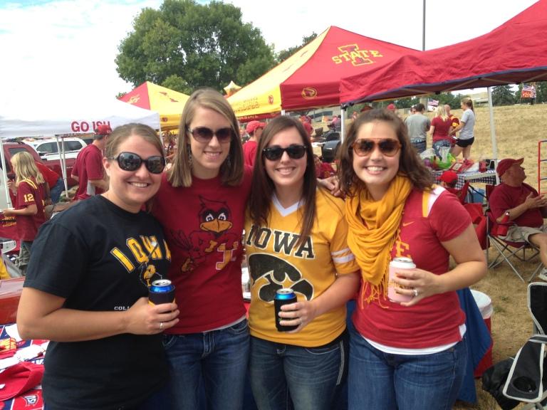 The girls.  Boo Iowa.