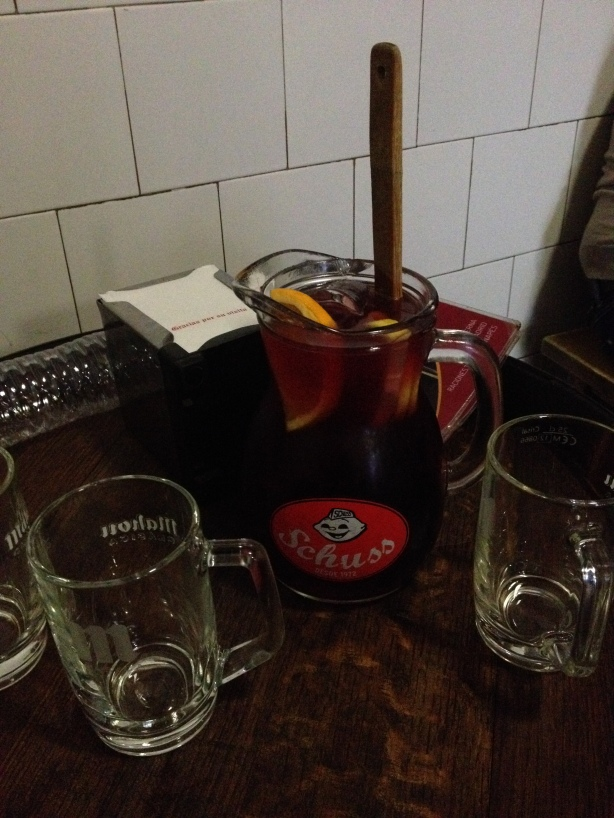 Sangria pitcher.