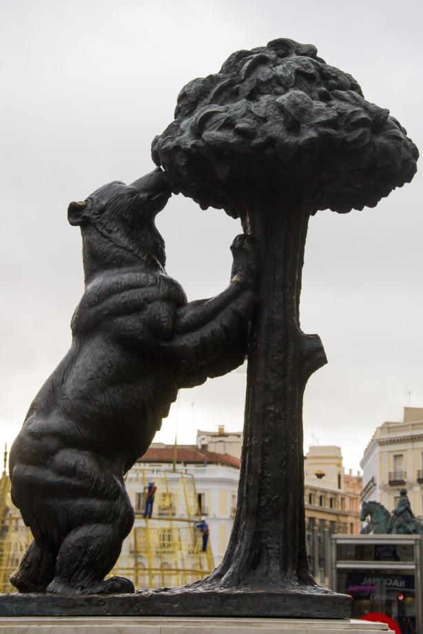 Symbol of Madrid - we all felt this tree resembled broccoli.
