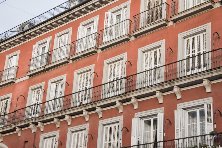 Loved these balconies surrounding the square.
