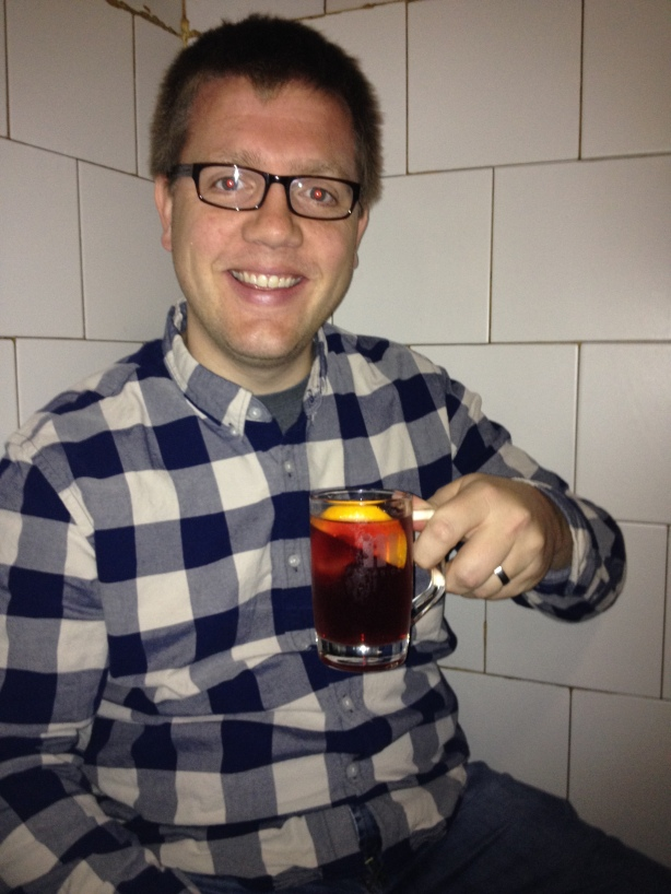 Happy to have some sangria!