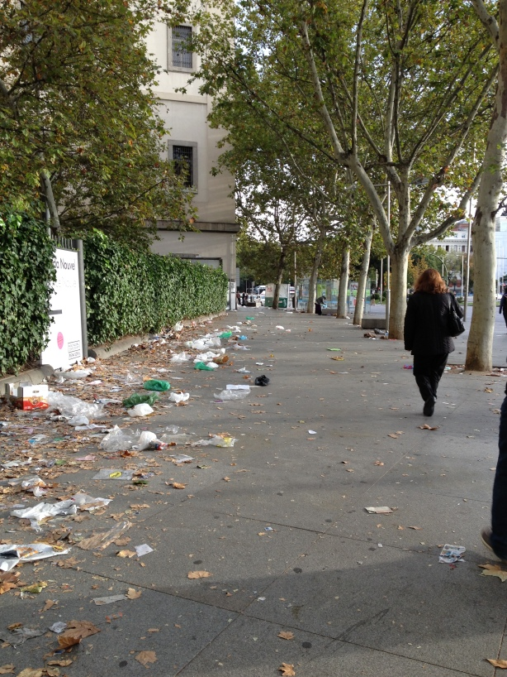 Street trash.