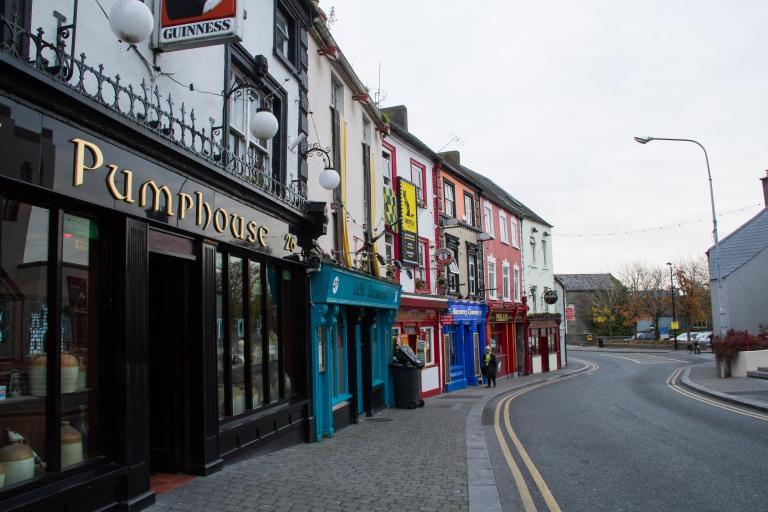 A block of pubs.