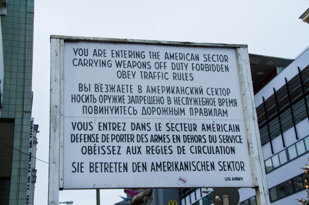 Sign posted at the checkpoint.