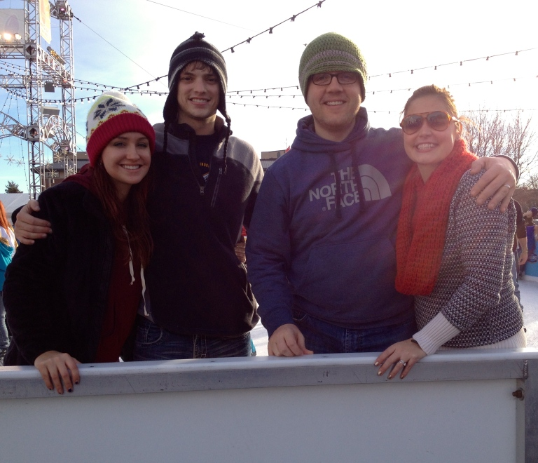 We went ice skating on a BEAUTIFUL 65 degree day in Omaha with Lauren & Curtis.