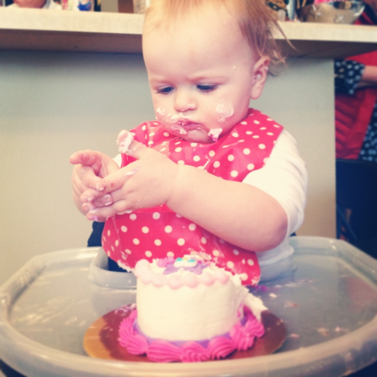 This little lady (our niece Taylor) celebrated her 1st Birthday!