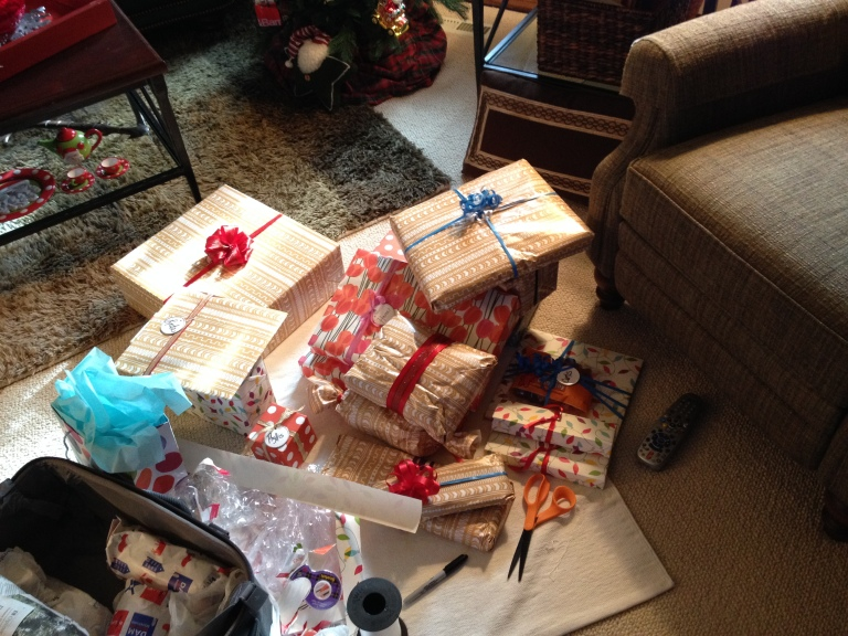 We brought back a few treats!  I LOVE wrapping gifts!