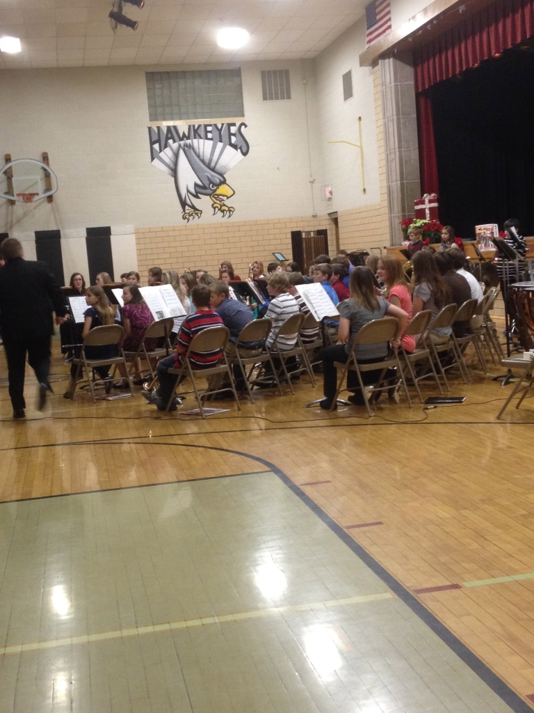 My nephew Owen's holiday music program.  Love being an aunt!