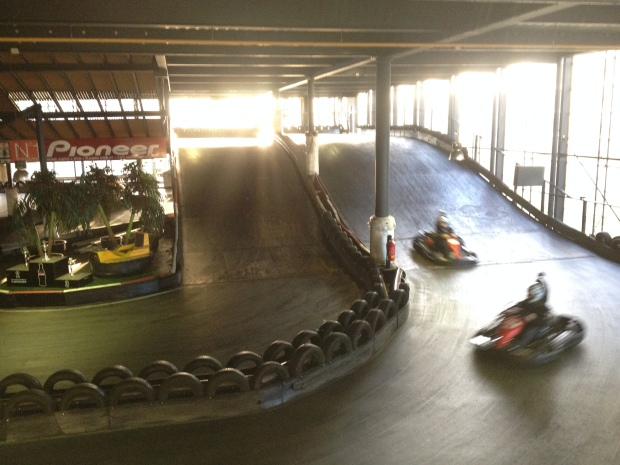 This was a 2-story track...
