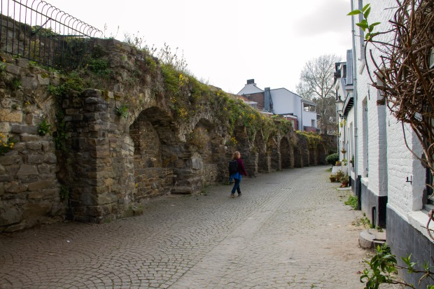Taking a stroll along the old city wall.