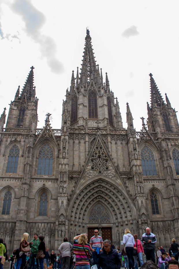 The Barcelona Cathedral.  This photo doesn't show just how pretty it really was.