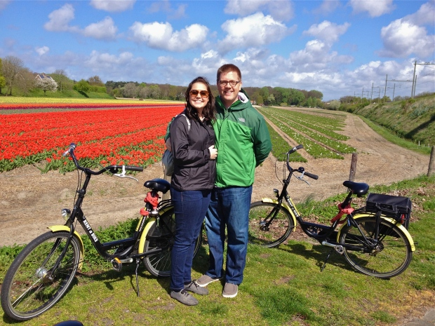 Us + bikes + flowers = great day!
