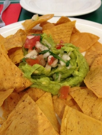 Real chips & guacamole!