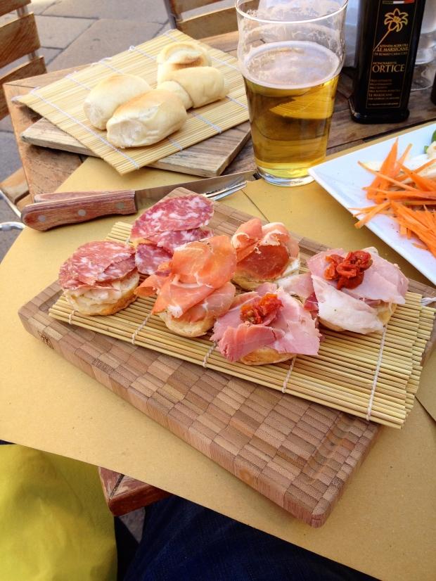 Salami & Brie, Prosciutto & Cheese Spread, Ham & Pepper & Wasabi Mustard