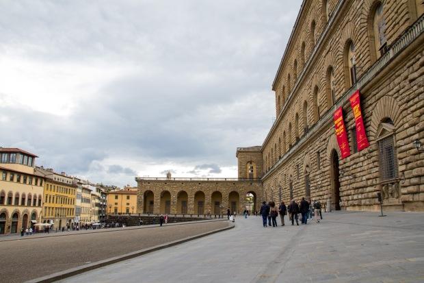 Outside Palazzo Pitti.