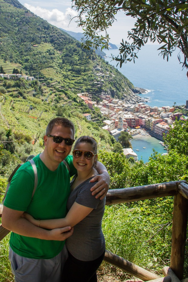 Getting close to Vernazza!  A victory shot.
