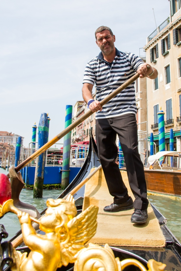 Our gondolier, Andrea.