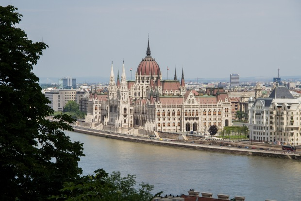 A look at the parliament from Buda Castle.