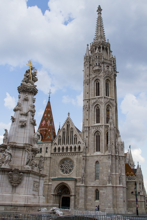 The front of the Matthias Church.